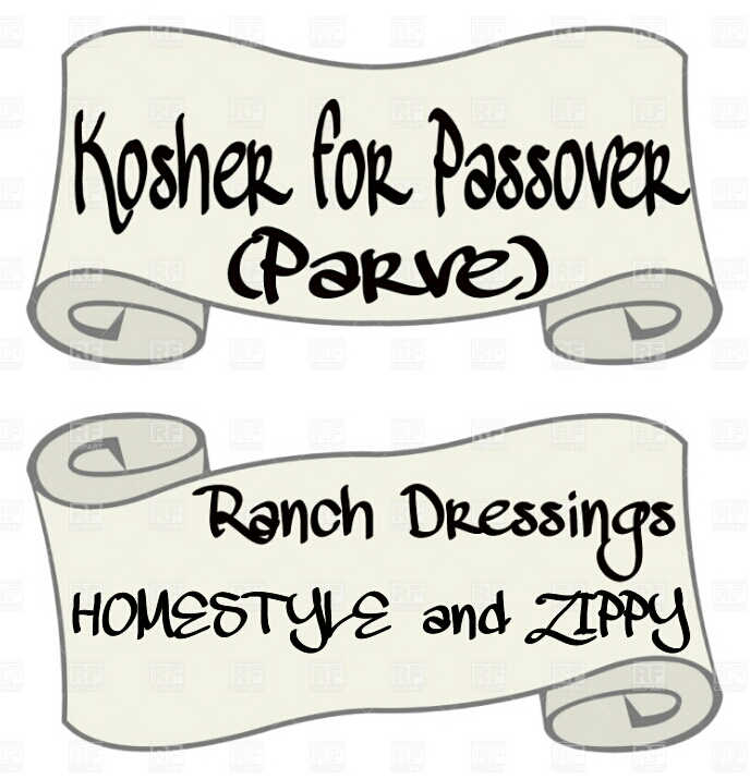 Kosher for passover two parve ranch dressings views from for What does it mean to have a kosher kitchen